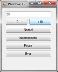 Windows7 taskbar demo application