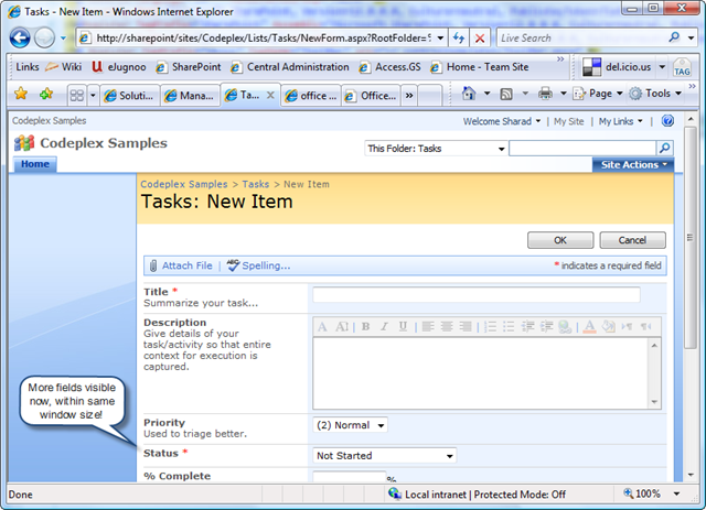 Sharad kumar sharepoint forms improve layout of field's.