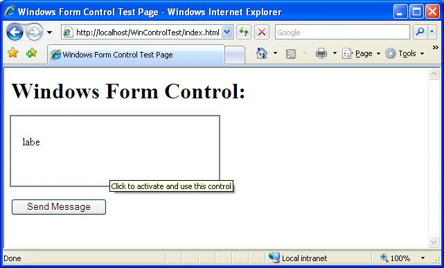 Soledad Pano's Blog - Hosting a Windows Form Control in a web page