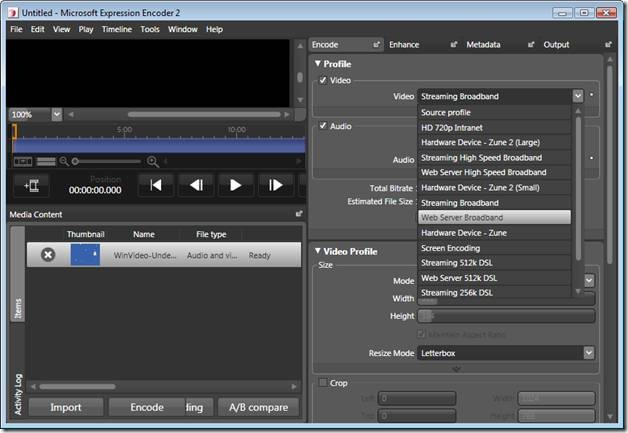 video in streaming silverlight