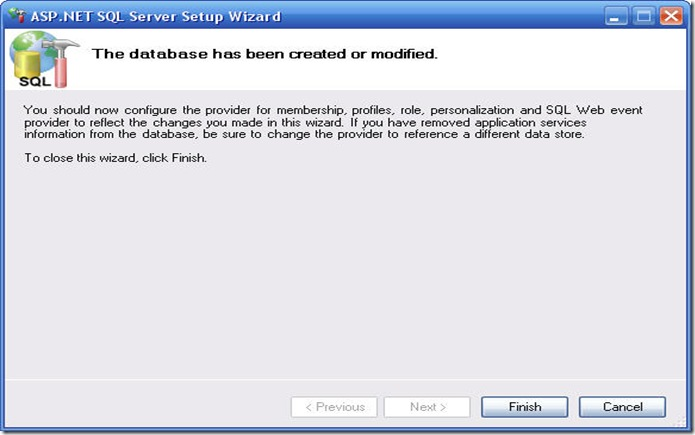 Raju's Blog - Installing ASP NET Membership services