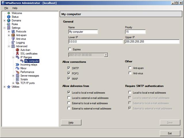 Wesley Bakker - Configure hMailServer for SharePoint