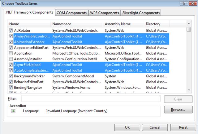 Yousef Jadallah's Blog - Installing AJAX Control Toolkit 4