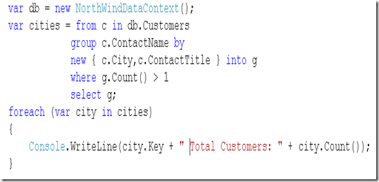 Zeeshan Hirani Group By Multiple Columns In Linq To Sql